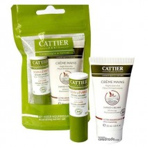 Cattier Kit de Invierno,Manteca Karite  20g + Crema de Manos 30ml
