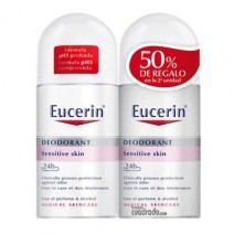 Eucerin Duplo Desodorante Roll-on Piel Sensible , 2 x 50ml