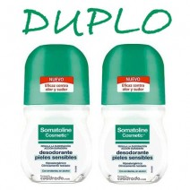 Somatoline Duplo Desodorante Pieles Sensibles Roll-on, 2X50ml