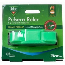 Relec Pulsera Antimosquitos Repelente Color Verde. 1u