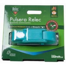 Relec Pulsera Antimosquitos Repelente Color Turquesa, 1u
