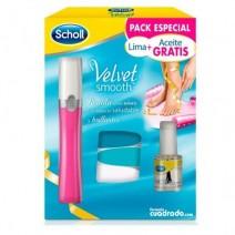 Dr Scholl Velvet Smooth Lima Electronica Recargable para Uñas, 1u + REGALO Aceite Hidratante Uñas 7.