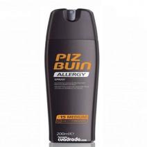 Piz Buin Allergy SPF15 Spray Corporal Piel Sensible al Sol, 200ml