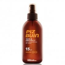 Piz Buin Tan & Protect SPF15 Aceite Solar Intensificadora Bronceado, 150ml
