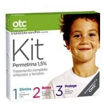 OTC Kit Permetrina 1.5% Loción 125ml + Acondicionador 125ml + Repelente125ml