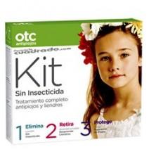 OTC Kit Sin Insecticida Loción 125ml + Acondicionador 125ml + Repelente 125ml