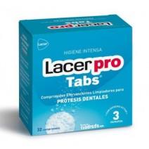 Lacer ProTabs Limpieza Protesis Dentales, 32 comprimidos