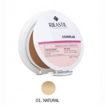 Rilastil Cumlaude Coverlab Maquillaje Compacto Tono Natural SPF30 Piel Seca, 10g